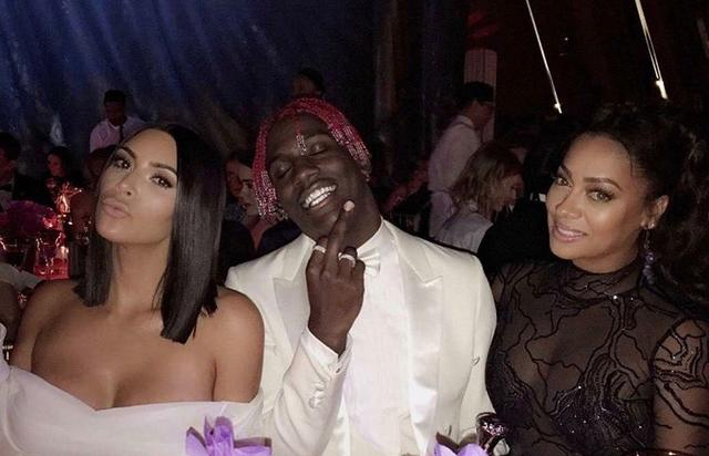 Lil Yachty smiling at the met gala with kim kardashian