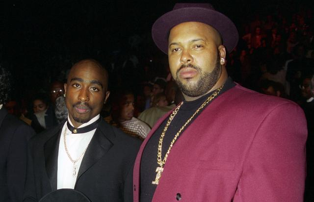 Suge Knight and Tupac in 1996