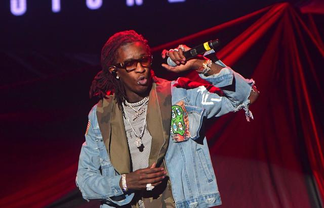 Young Thug with red dreads in Atlanta