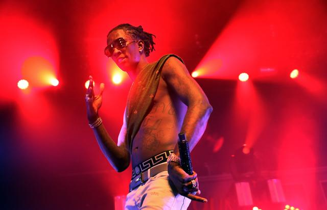 Young Thug shirtless performing in New York