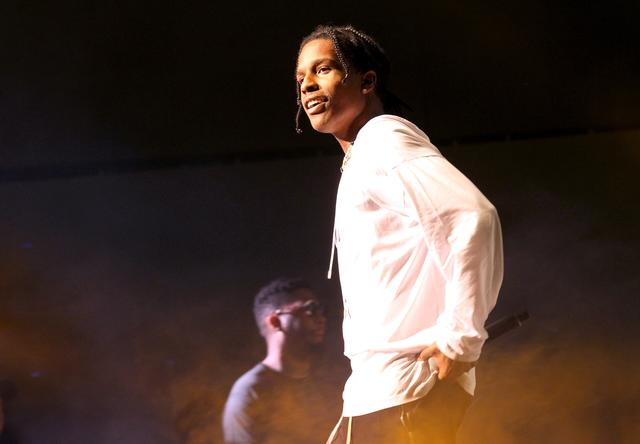 A$AP Rocky performing at the Staples Center