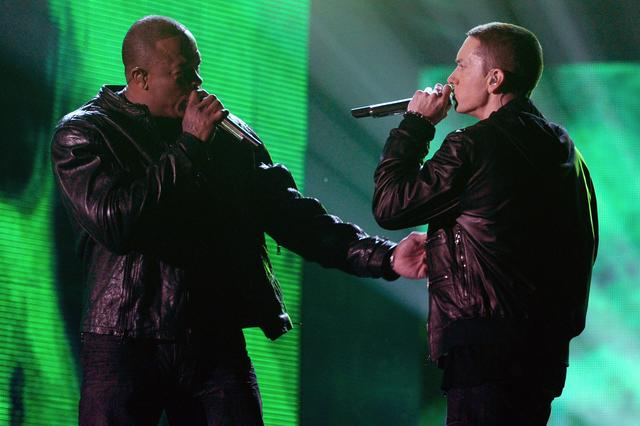 Dr. Dre & Eminem performing at The Grammys