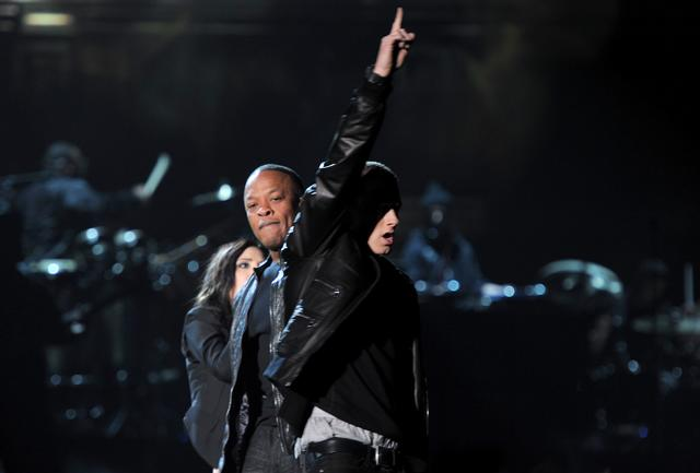 Eminem and Dr. Dre in 2011