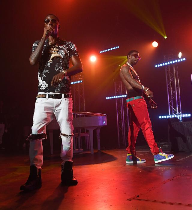 Young Dolph and Gucci Mane at Gucci's homecoming concert in Atlanta