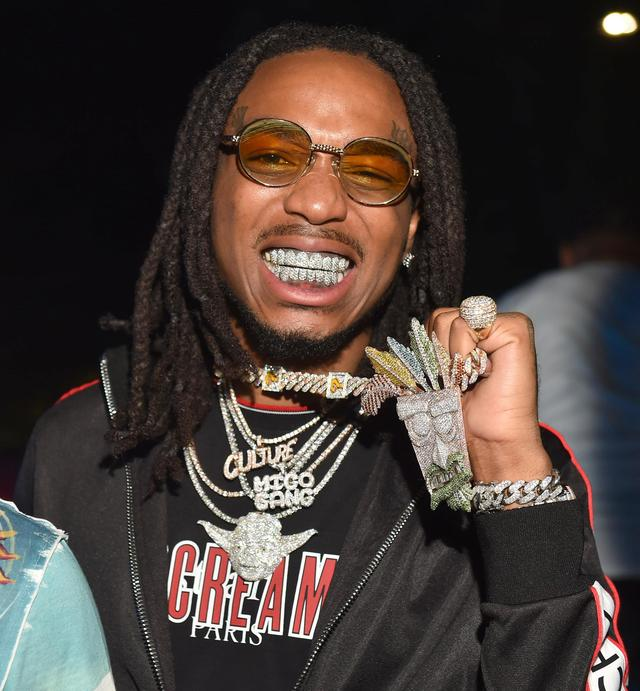 Quavo shows off his chains