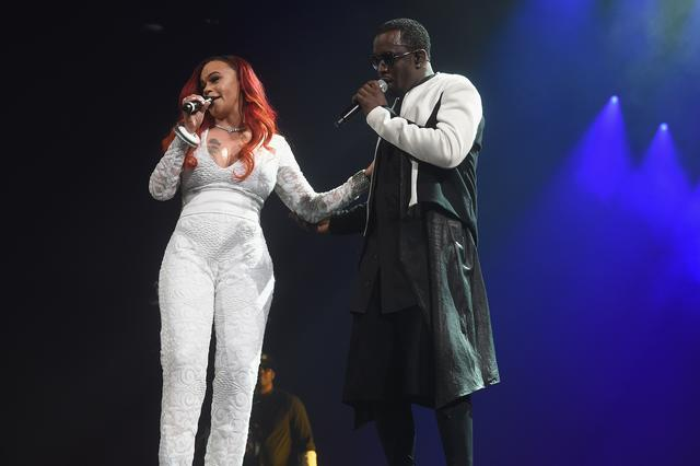 Faith Evans and Diddy