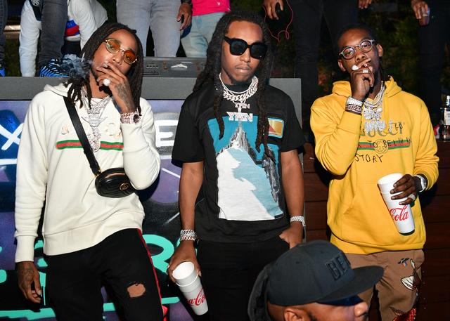 Migos in the club smoking up