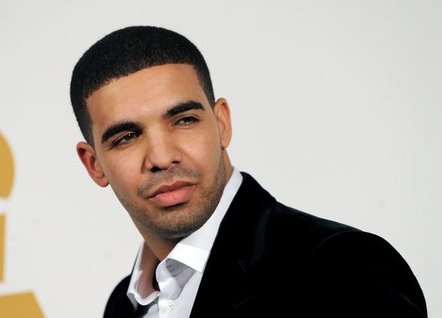 Drake giving a blue steel look at the Grammys