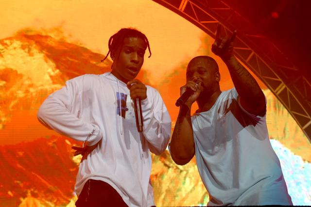 ASAP Rocky & ScHoolboy Q on stage together