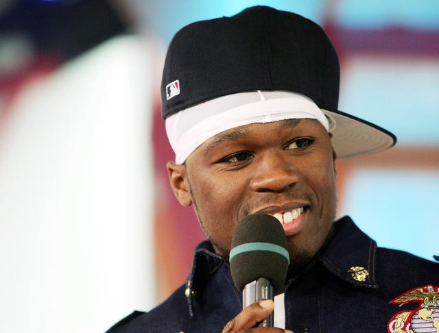 50 Cent at MTV TRL