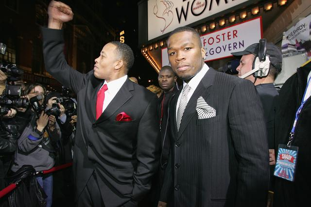 50 Cent and Dr. Dre in 2004 in NYC