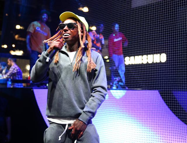 Lil Wayne at a Samsung event