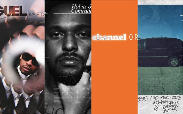 "Miguel ""Kaleidoscope Dream,"" ScHoolboy Q ""Habits & Contradictions,"" Frank Ocean ""Channel Orange,"" Kendrick Lamar ""good kid, m.A.A.d city artwork"