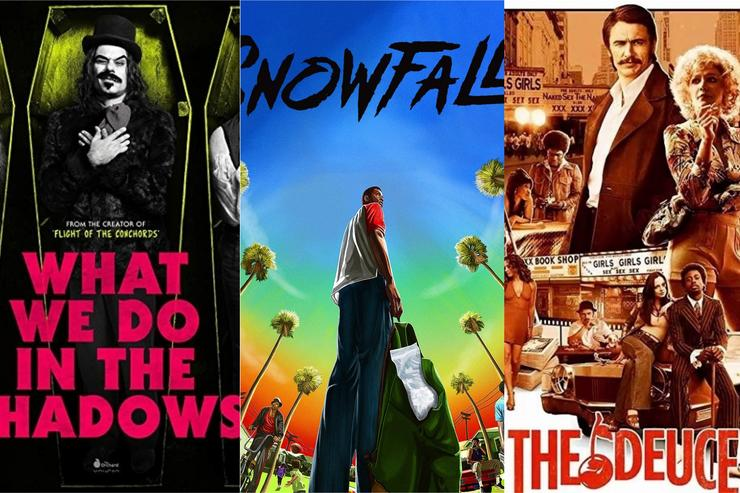 """TV show posters: """"What We Do In the Shadows,"""" """"Snowfall"""" and """"The Deuce"""""""