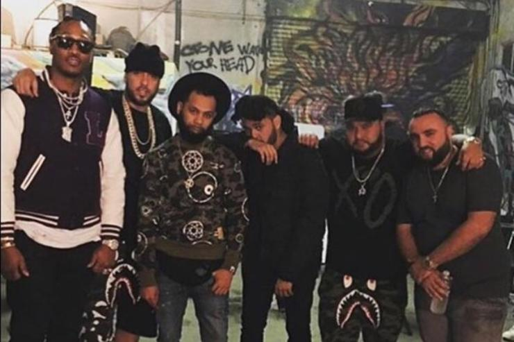 """On set of Future & The Weeknd's """"Low Life"""" video"""
