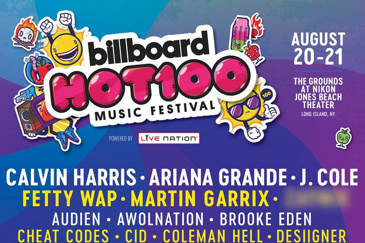 Billboard Hot 100 Festival flyer