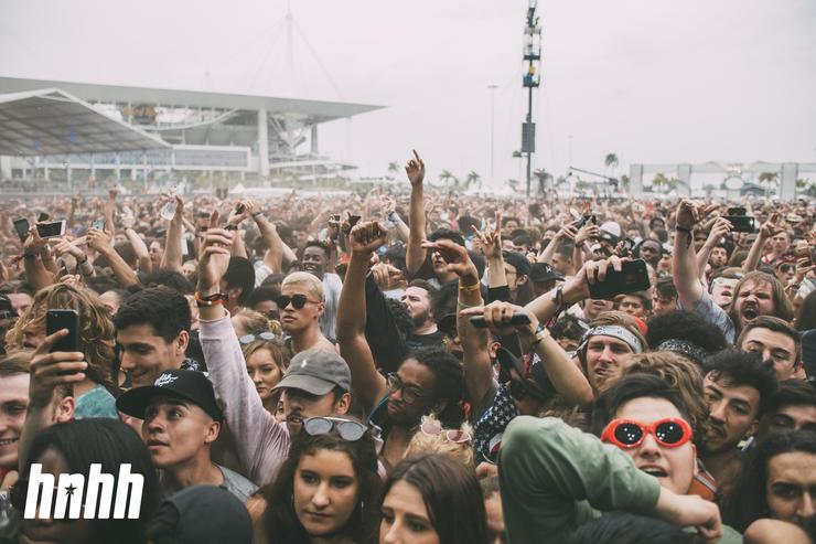 The crowd at Rolling Loud 2018